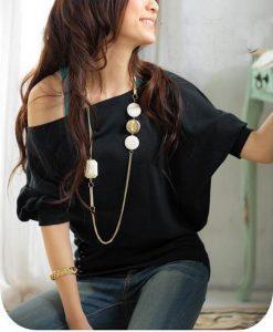 Trendy Off Shoulder Tops Shirts Blouse 3 Colors s M L  eBay - Google Chrome_2014-07-25_22-44-18
