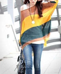 Bohemian Colorful Broad Stripe Print Loose Fit Batwing Sleeve Spring Blouse  Th_2014-05-13_19-59-05