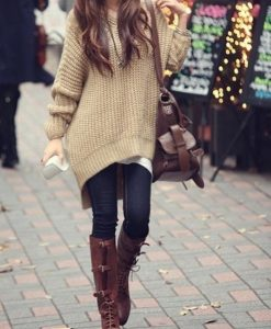 Women Long Sleeve Oversized Batwing Knit Sweater Loose Jumper Pullover Tops New _2014-11-27_11-20-07
