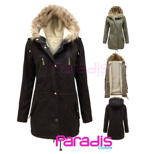 Hooded Parka Jacket Womens
