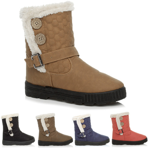WOMENS LADIES CALF ANKLE VELCRO BUTTON